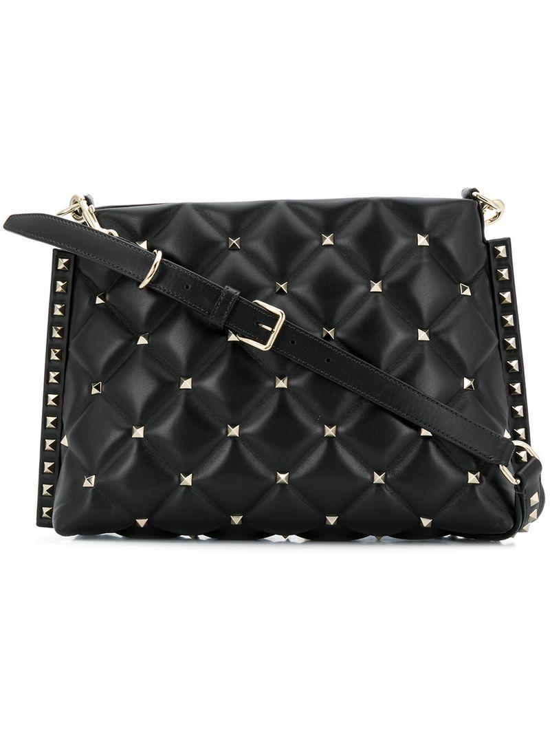 a39434c4764 Valentino Garavani Candystud Crossbody Bag In Black   ModeSens