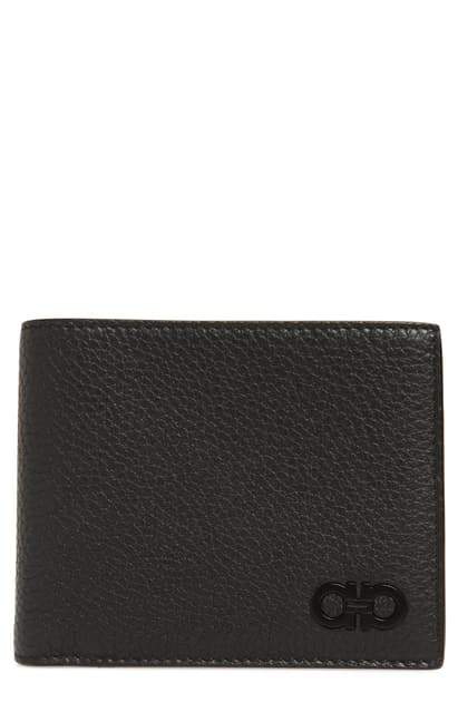 Salvatore Ferragamo Firenze Leather Wallet - Black In Nero