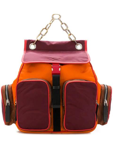 Marni Colour-Block Backpack - Yellow