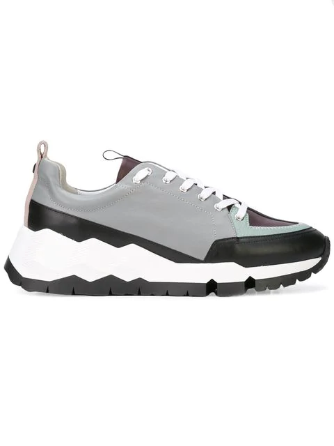 8960598b783 Pierre Hardy Leather Street Life Sneakers In Grey | ModeSens