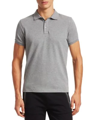 b7e2a7c5f Moncler Maglia Cotton Polo In Grey