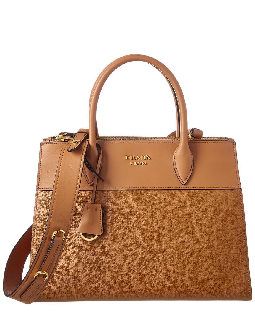 58492661fb94 Prada Paradigme Saffiano Leather Tote In Brown   ModeSens