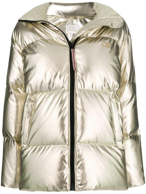 b56f5f63 Tommy Hilfiger Tommy Icons High Gloss Padded Jacket In Metallic ...