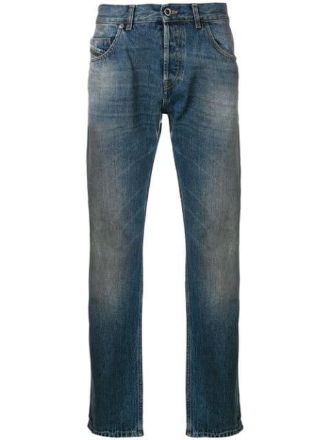 Diesel Black Gold Straight Leg Jeans In Blue