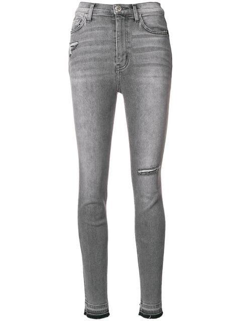 Ausgeblichene Skinny Jeans