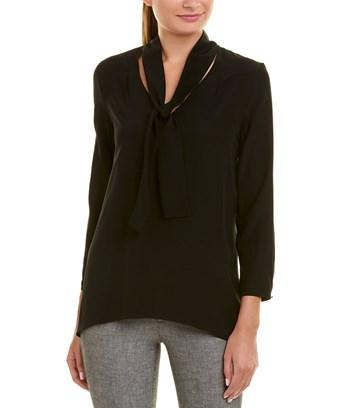 Escada Silk Top In Black