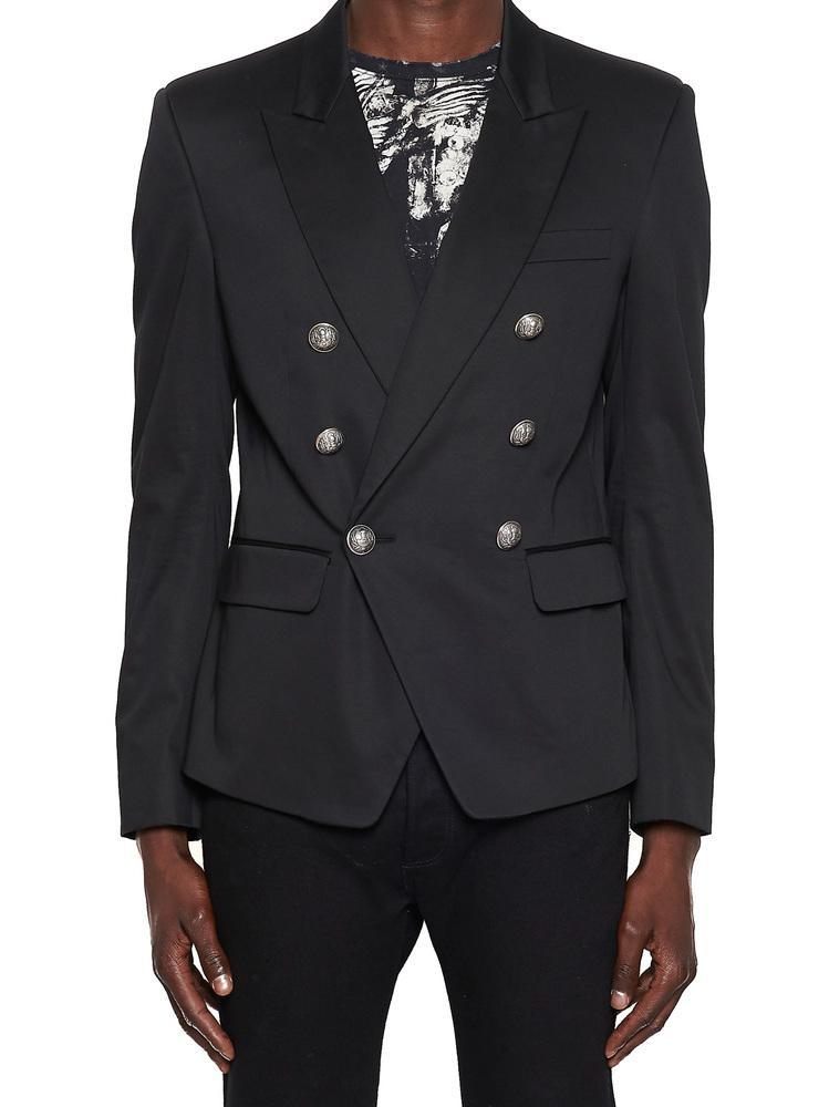 dbe53d4a Balmain Double Breasted Blazer In Black | ModeSens