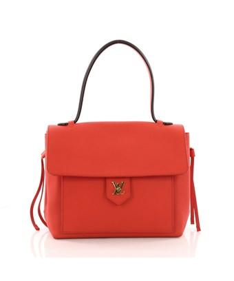 Louis Vuitton Pre-Owned: Lockme Handbag Leather Pm In Red