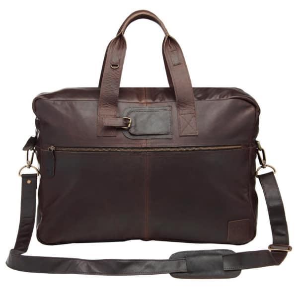 Mahi Leather Classic Leather Holdall In Mahogany