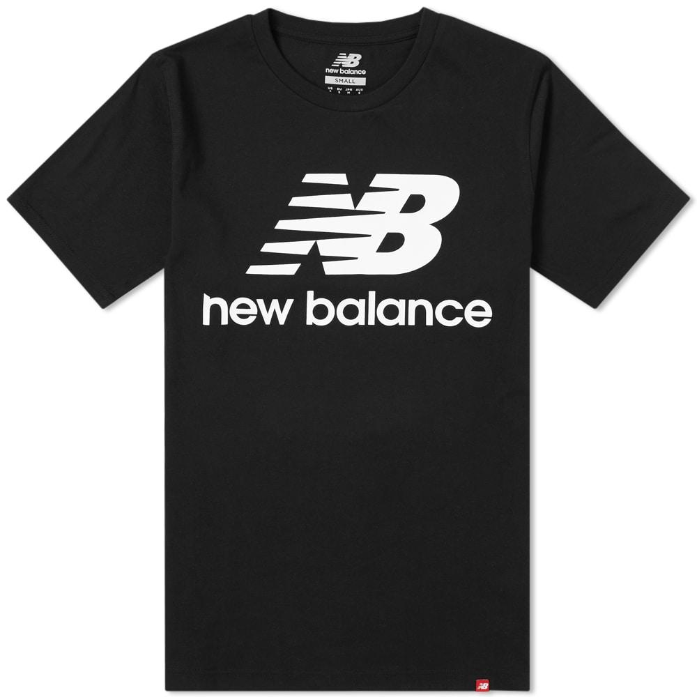 a36abced New Balance Essentials Stacked Logo Tee In Black   ModeSens