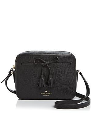 160e3a440 Kate Spade Hayes Street - Arla Leather Crossbody Bag - Black | ModeSens