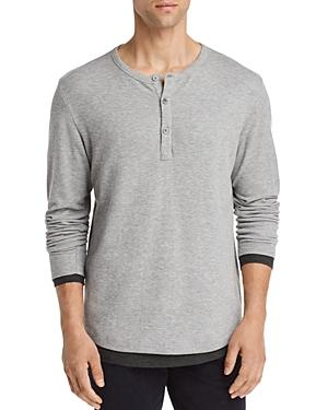 4945e21016c Theory Double Layer Henley - 100% Exclusive In Heather Grey | ModeSens