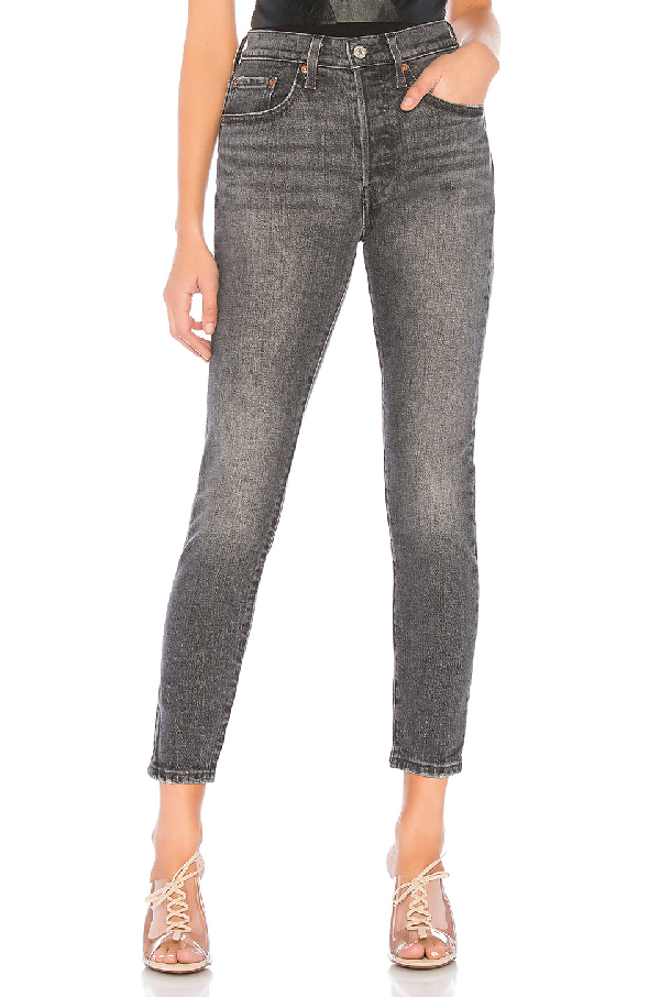 02ee882da97 Levi's 501 High-Rise Ankle Skinny Jeans In Coal Black | ModeSens