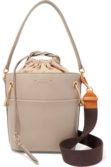 0d384c1f21d89 ChloÉ Roy Small Leather Bucket Bag In Gray