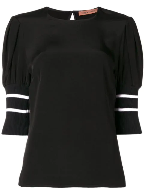 Maggie Marilyn Don't Lose Yourself Puff Shoulder Top In Black