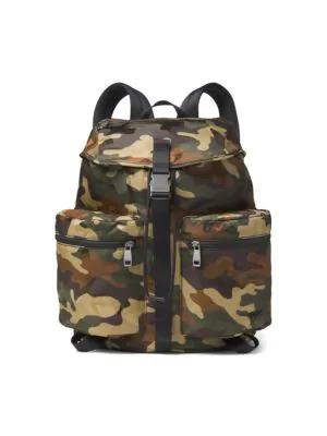 43fe3080a637 Michael Kors Kent Camo-Print Nylon Backpack In Olive