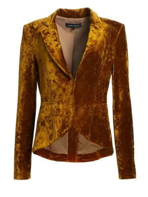 0986149d7fa Nanette Lepore Art Lover Crushed Velvet Jacket, Gold | ModeSens