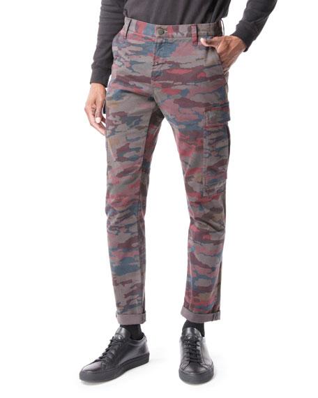 J Brand Men's Navis Camo-Print Cargo Pants In Root Vegetable