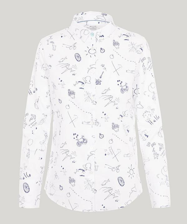 Paul Smith Sketchbook Cotton Shirt In White