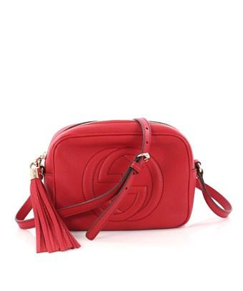 bcdc4c6454a3 Gucci Pre-Owned: Soho Disco Crossbody Bag Leather Small In Red ...