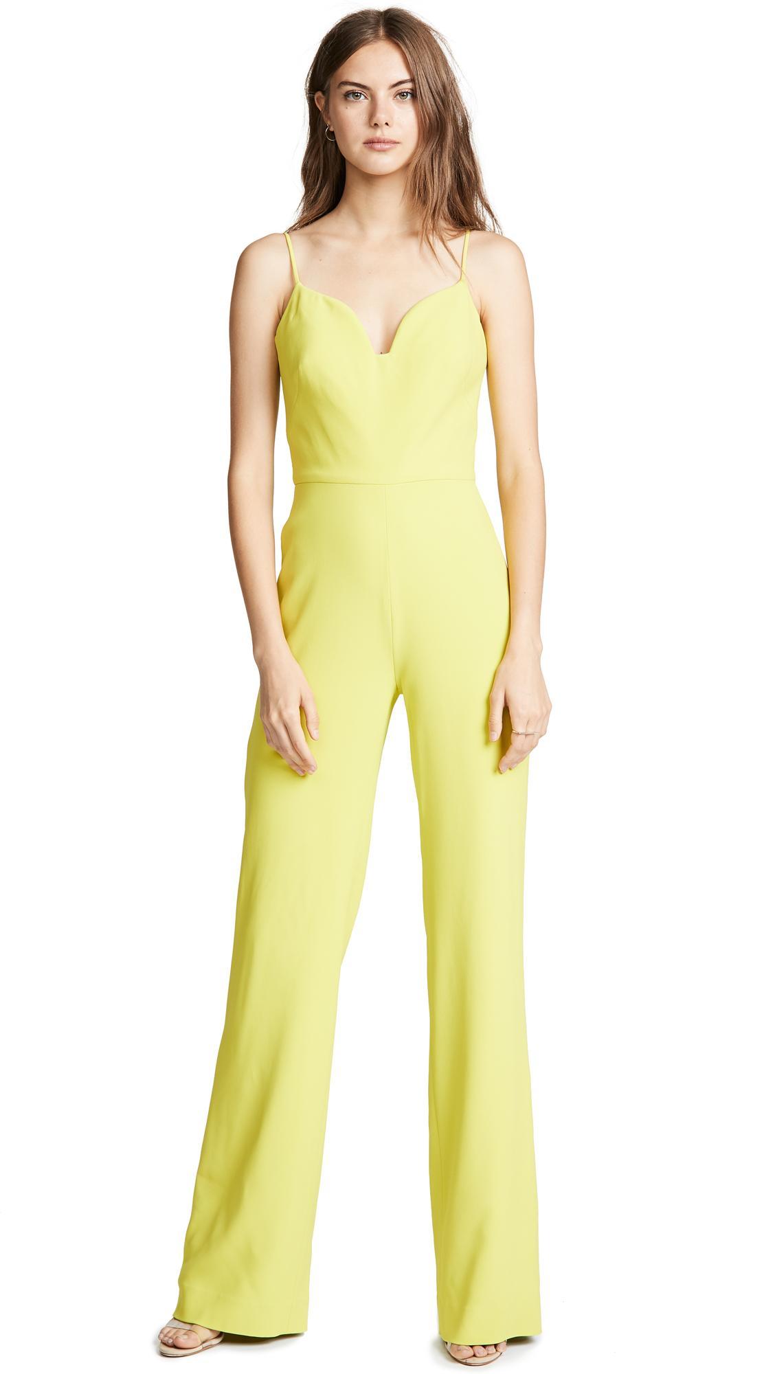 4202e62b649 Brandon Maxwell Gloria Jumpsuit In Lime