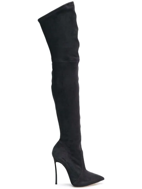 Casadei Over-The-Knee Boots - Grey