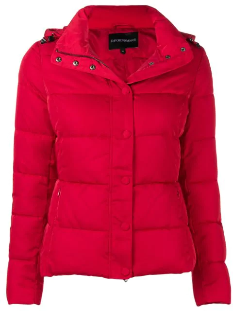 d2b6b697 Emporio Armani Padded Puffer Jacket - Red