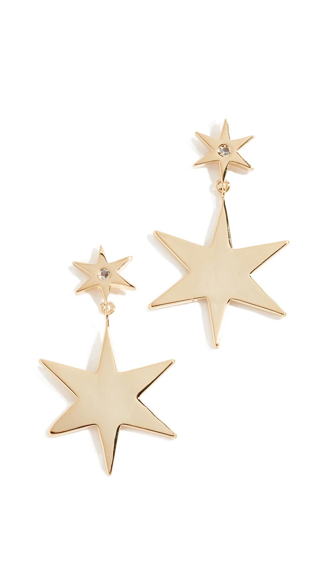 Jules Smith 14K Goldplated Star Drop Earrings In Gold/Clear
