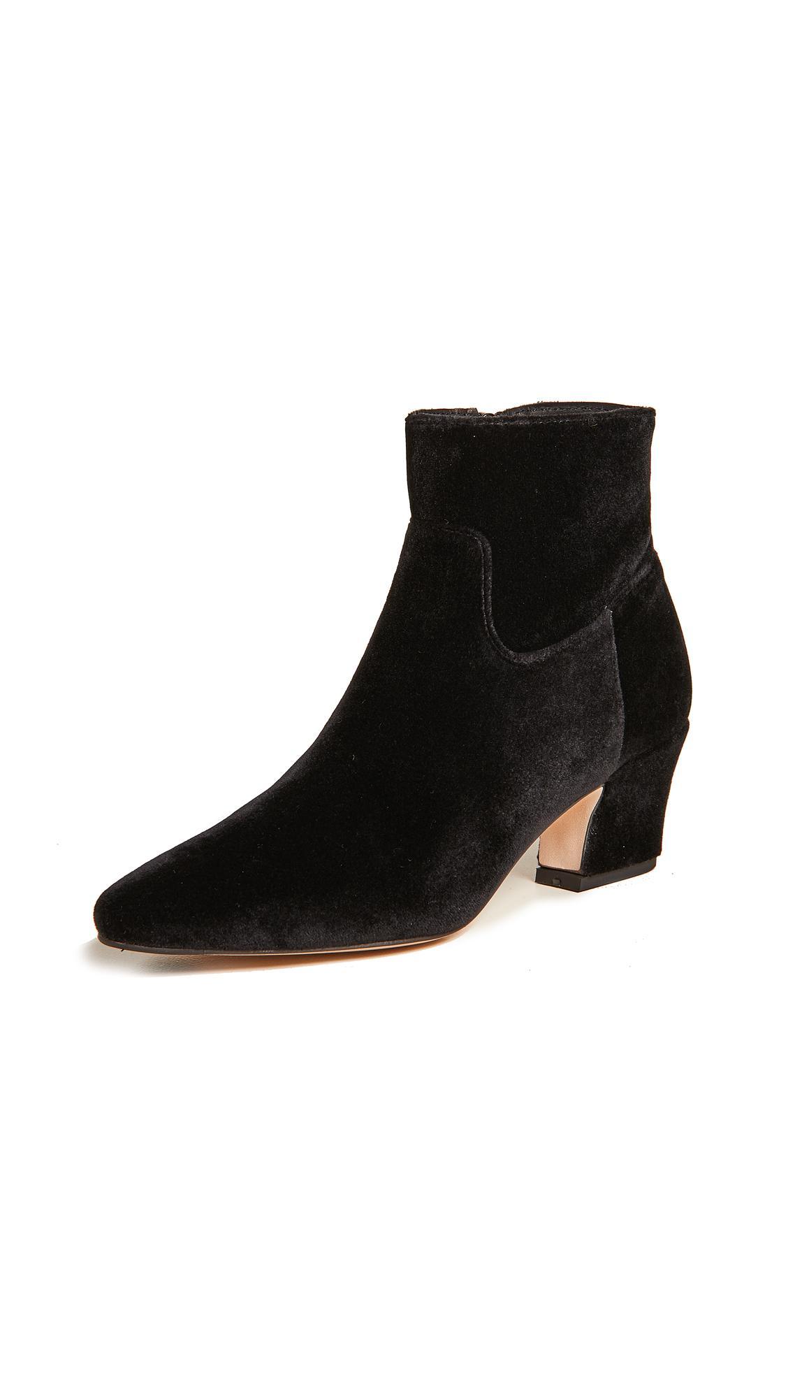 Miista Lorelle Black Velvet Ankle Boots