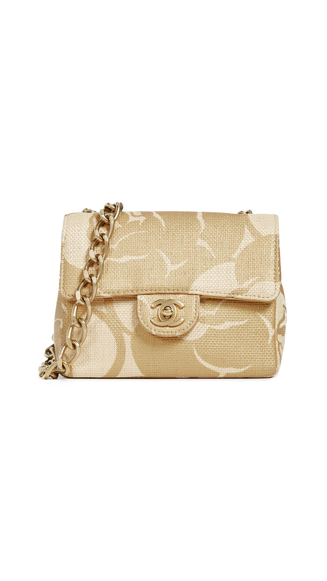 2c72913f5c4c What Goes Around Comes Around Chanel Beige Raffia Half Flap Mini ...