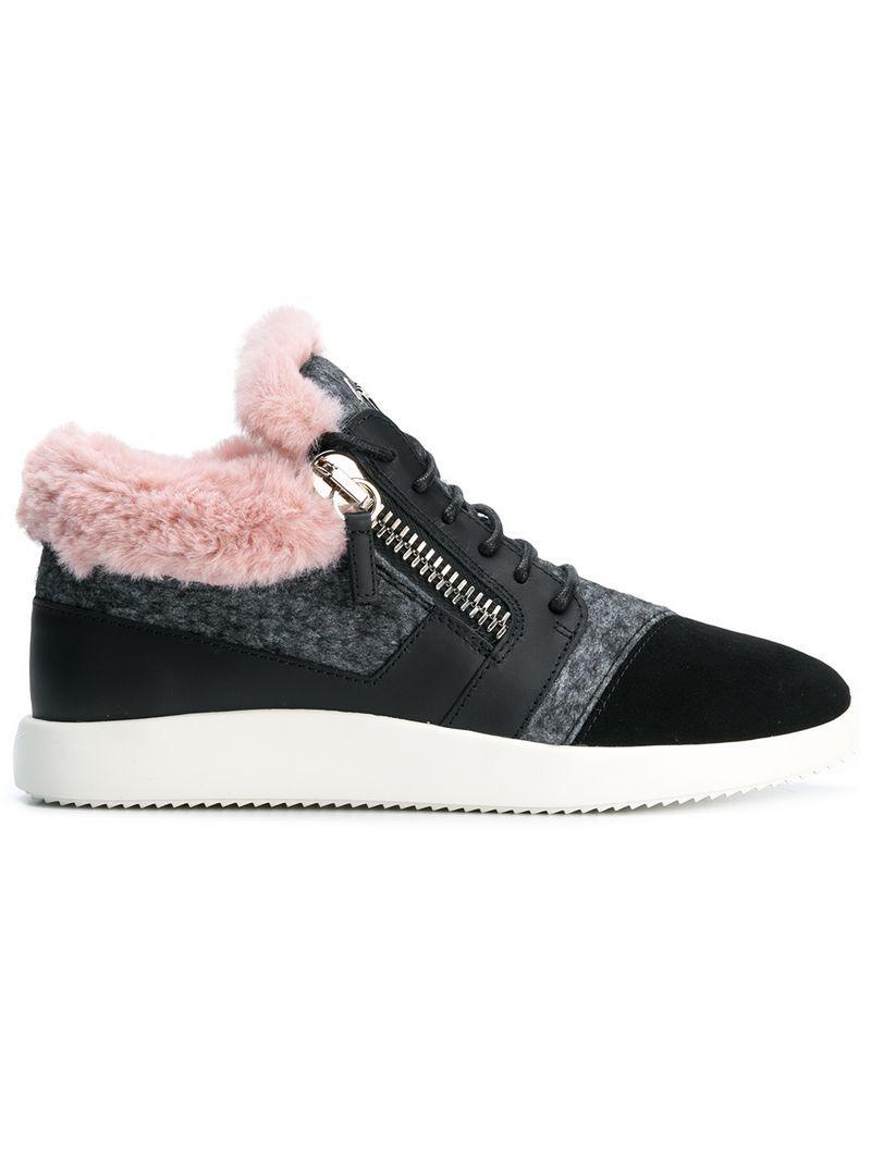 4d2d9b7232c65 Giuseppe Zanotti Design Kriss Mid-Top Sneakers - Grey   ModeSens
