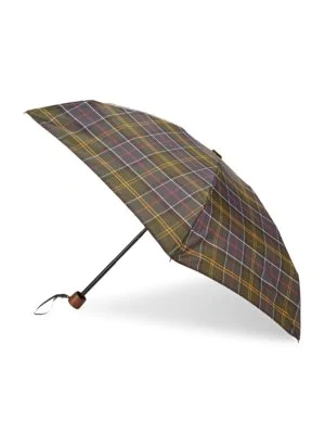 Barbour Tartan Handbag Umbrella In Classic Tan