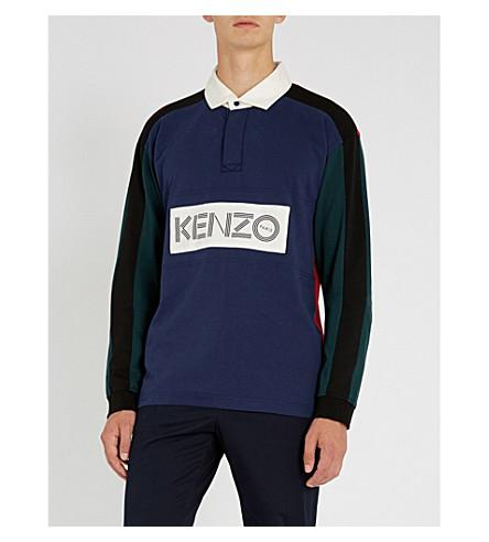 2f01d628 Kenzo Logo-Patch Cotton-Jersey Rugby Shirt In Navy   ModeSens
