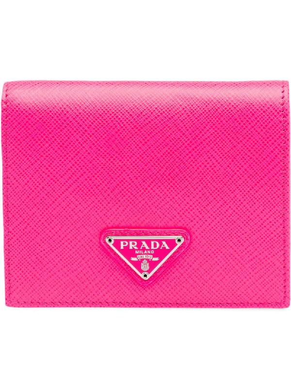 2667fba435920 Prada Saffiano Wallet In Pink