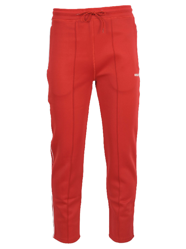 Kenzo Joggers Red Cotton Pants