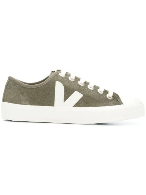 Veja Wata Rubber-trimmed Suede Sneakers In Green