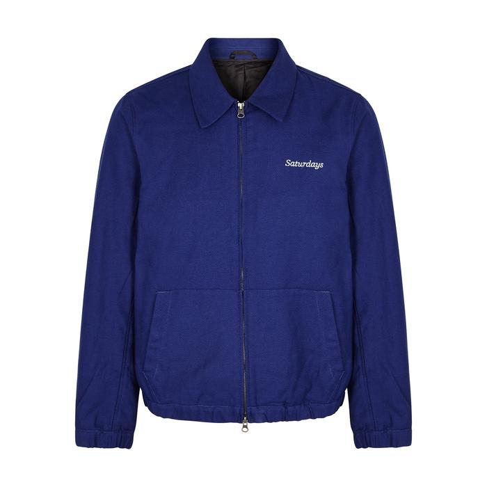 Saturdays Surf Nyc Harrison Cotton-twill Bomber Jacket - Cobalt Blue