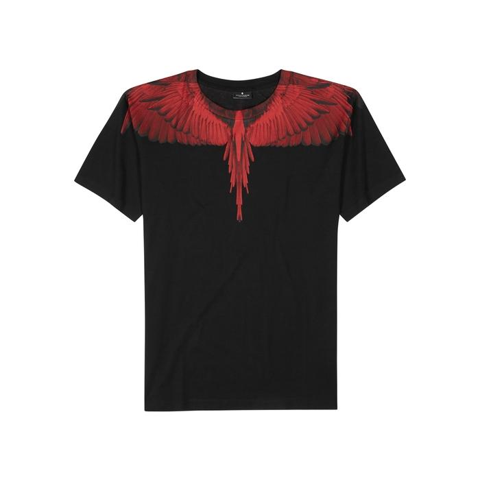 f7df7dee Marcelo Burlon County Of Milan Double Wings Printed Cotton T-Shirt In Black  And Red