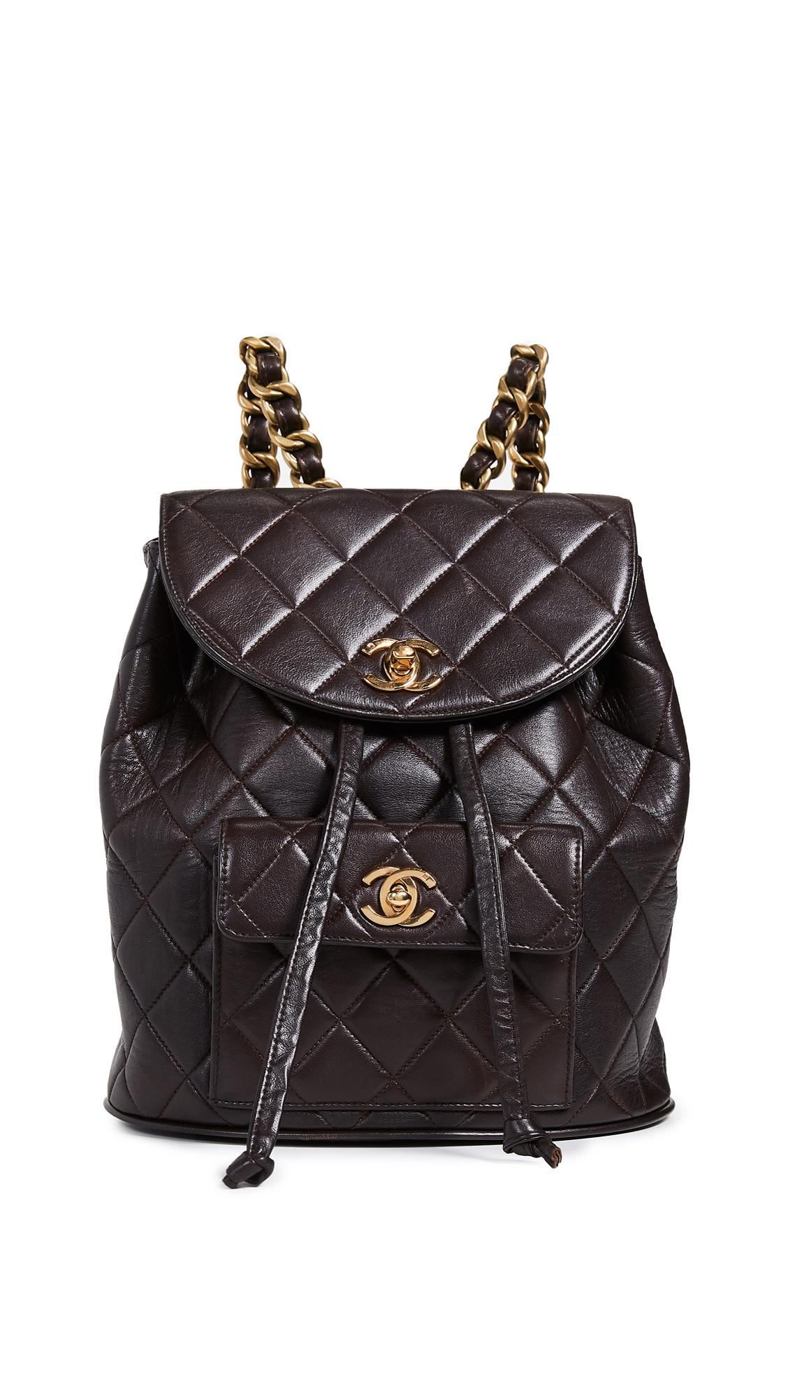 d79263aec27b What Goes Around Comes Around Chanel Classic Backpack In Brown ...