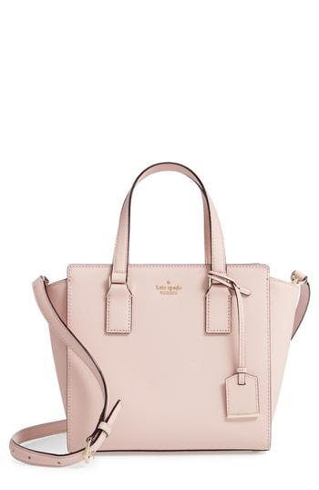 56cd445bb43d51 Kate Spade Cameron Street - Small Hayden Leather Satchel - Pink In Warm  Vellum