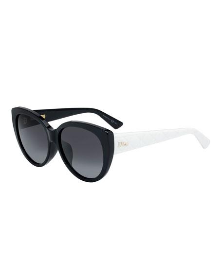 c140a15a67a9 Dior Lady 58Mm Cat Eye Sunglasses - Black  Ivory
