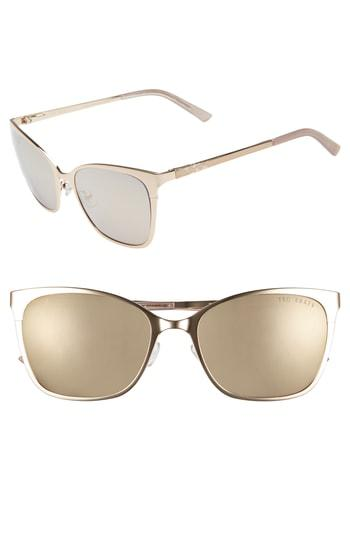 017e269e4751 Ted Baker 53Mm Rectangle Cat Eye Sunglasses - Gold