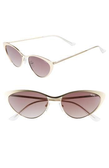 a062e53f5a368 Quay Boss 53Mm Cat Eye Sunglasses - Gold  Brown