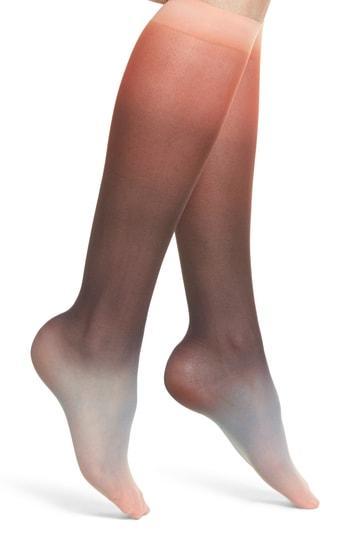 710fc673a89 Hysteria By Happy Socks Mia Print Knee Socks In Bright Combo