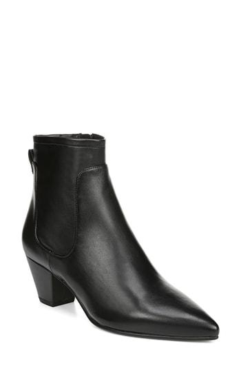 9d2577662a1f5b A slender pointed toe calls attention to an eye-catching ankle boot with  sleek topstitched seaming. Style Name  Sam Edelman Karlee Bootie (Women).
