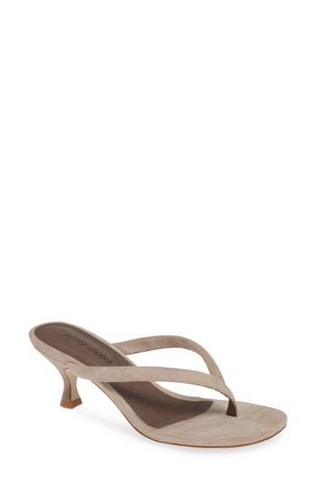 1264063867 Jeffrey Campbell Brink Sandal In Taupe Suede | ModeSens