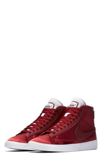 a8fc9129f409 ... up with modern luxury on the Women s Nike Blazer Mid Premium Casual  Shoes. Perfect for casual days