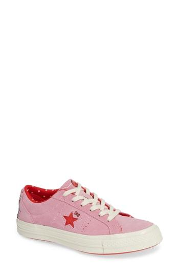 Women's One Star Ox Hello Kitty Casual Shoes, Pink