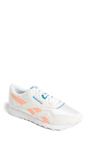 d7f701cf8e946 Reebok Women s Classic Retro Lace Up Sneakers In White  Digital Pink ...