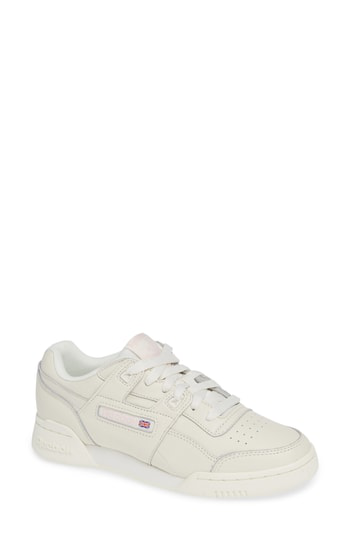 f9e306ae7b6 Reebok Women s Workout Plus Vintage Lace Up Sneakers In White  Practical  Pink